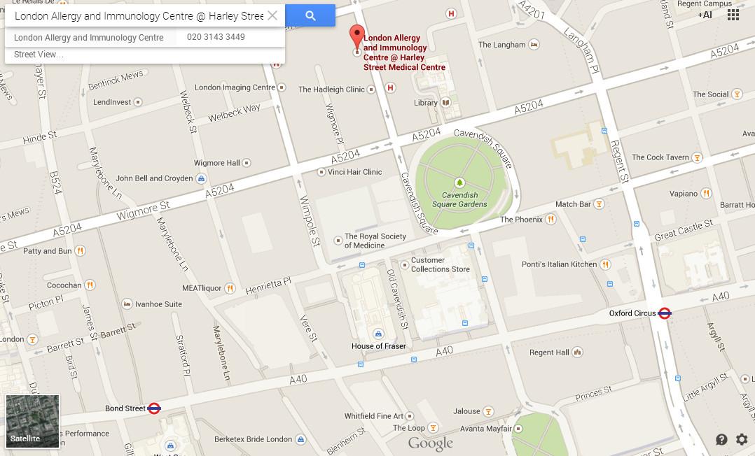 Allergy_Clinic_Harley_Street_Map